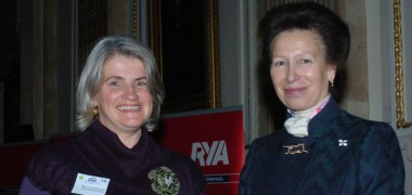 Liz Chowienczyk is honoured by the RYA