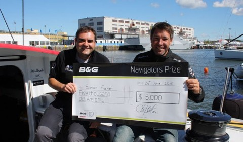 Simon Fisher wins the B&G Navigators' Navigator Prize